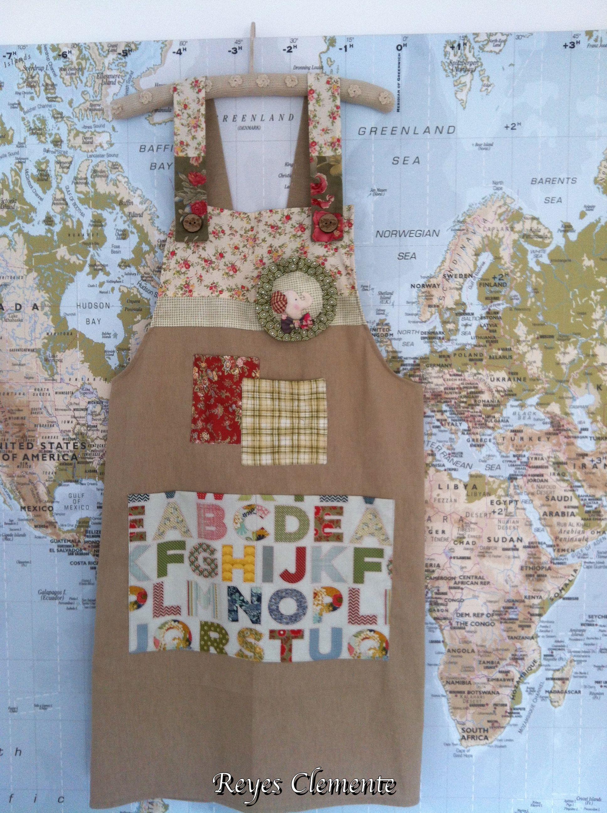 Delantal para patchwork labores de hermanas for Fotos de patchwork